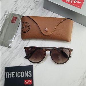 Ray Ban Erika Matte Tortoise Sunglasses